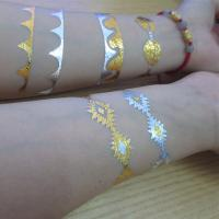China Silver gold body tattoo jewelry / childrens temporary tattoos wholesale