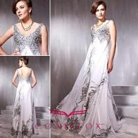 Buy cheap low v-neck sequined quinceanera dresses, shiny pattern quinceaanera dresses from wholesalers