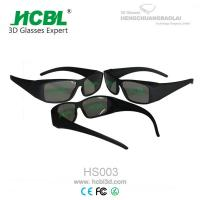 China Stylish Small Black Frame Visual Reald 3D Glasses For 3D Format Film Movie wholesale