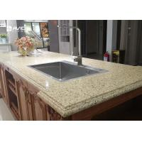 Quality Vivid Beige Glossy Polished Sparkle Quartz Countertops Ogee Edge Good Color Consistency for sale