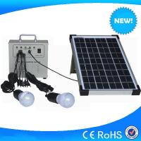China 10w portable home solar panel kits / solar lighting kits for residential use on sale
