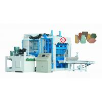 China Fully Automatic Concrete Block Making Machine For Cement / Sand / Rivel Sand Materials wholesale