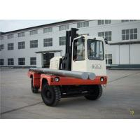 China Material Moving Equipment Triplex Mast Diesel Sideloader Forklift 7 Ton wholesale