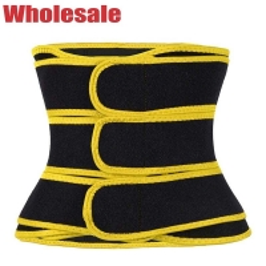 China Neoprene 3 Belts Waist Trainer Black And Yellow Corset For Tummy Flattening wholesale