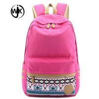 China Cheap custom factory canvas bag high quality durable lady backpack new design colorful canvas backpack wholesale