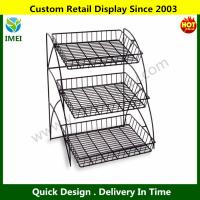 China 3-Tiered Wire Shelving Display Rack  YM6-027 wholesale