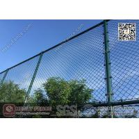China 4.75mm Dark Green PVC coated Wire, 50X50mm mesh aperture Chainlink Fence wholesale