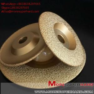 China Vacuum Brazed Diamond Grinding Disc for marble and granite  Alisa@moresuperhard.com on sale