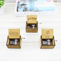 China Wholesale unique Hand-crank Harry Potter Wooden Music Box for sales wholesale