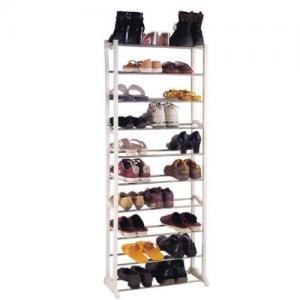 China White Powder Coating Large 10 Tier Shoe Storage Racks JP-SR3101 wholesale