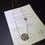 China Piaget Rose necklace brand  jewelry diamonds necklace 18kt gold wholesale