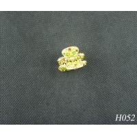 China Jeweled Hair Accessories Fashion Plated Gold Flower Hairpin Jewellery for Party wholesale