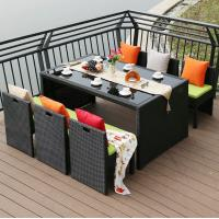 China Outdoor Large / Big Table 6 Chair Patio Garden Dining Table Set Hotel Sightseeing Furniture Set wholesale