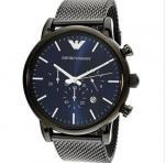 China Emporio Armani AR1979 Blue/Dark Grey Stainless Steel Analog Quartz Men's Watch wholesale