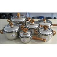 China 12 Piece Home Stainless Steel Cookware Sets with Color Bakelite Handle wholesale