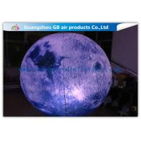 Buy cheap Giant Inflatable Lighting Decoration Ground Moon Ball With LED Lights from wholesalers