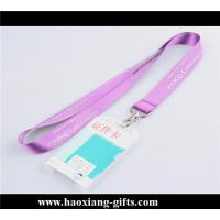 China made in China newest design thermal heat transfer logo pink lanyard with pvc card wholesale