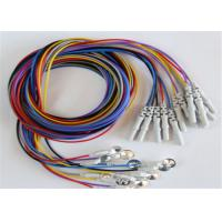 China Colorful Eeg Electrode Cap With Colorful Eeg Lead Wires 10pcs / Set wholesale