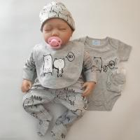 China 5pcs Newborn Baby Clothes Set Baby Boy Outfits Cute Newborn Little Boy Clothes For Spring And Autumn wholesale