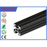 T slot black anodized structural aluminum beams with