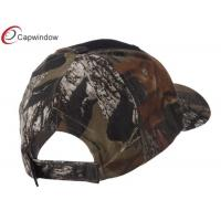 Quality Black Two Tone Mossy Oak Camper Cap / Camouflage Baseball hats with Cotton and Polyester for sale