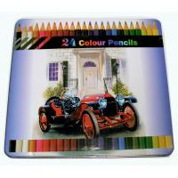 China Kids Drawing 24 pcs Popular water Color Pencils in Tin Box wholesale