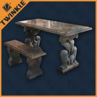 Simply marble garden ornaments with outdoor stone bench for Garden decking ornaments