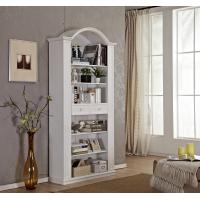 China Tall Narrow Wooden Book Case With Sliding Drawer / Vaulted Roof / Adjustable Shelves wholesale