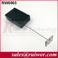 China Ipad Security Tether With Sticking Metal Plate , Shop Retail Anti Theft Pull Box  wholesale