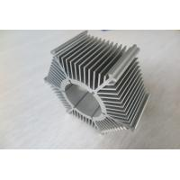 China LED Round Sunflower Extruded Heat Sink Profiles With Silver Anodized / Tapping wholesale