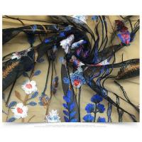 China 100% Polyester Heavy Floral Embroidered Mesh Lace Fabric For DIY Costume Dress wholesale