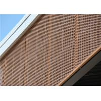 China Brown Engraved Decorative Perforated Aluminum Sheet 2mm / 2.5mm wholesale