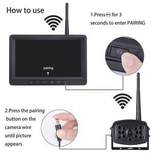China Wireless Night Vision HD Waterproof Backup Camera for Truck wholesale