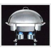 China Crown Shape Stainless Steel Round ChafingDish Heated By Chafing Fuel wholesale