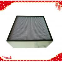 Buy cheap 305x305x292mm Aluminum alloy frame minipleat high efficiency particulate air from wholesalers
