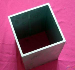 China Interior Square Aluminium Hollow Tube / Extruded Aluminum Tubing Polished Surface wholesale