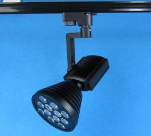 Quality Restaurant 60 degree 12W Black Flexibale Bridgelux LED Track Lighting Fixtures 100 x 180mm for sale