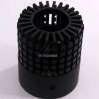 China Black Anodized CNC Extruded Heat Sink , Heat Sink Material Beautiful Design on sale