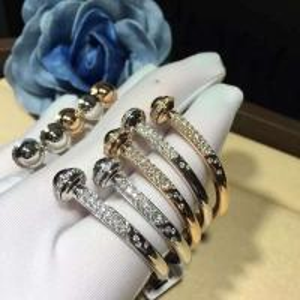 China PIAGET  brand  jewelry 18k gold Possession open bangle bracelet set with 90 brilliant-cut diamonds (approx. 1.00 ct). wholesale