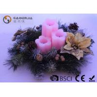 China 3pk Flower Shaped Decorative Led Candles Fake Wick With CE / ROHS wholesale