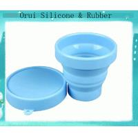 China Portable eco-friendly food grade silicone rubber drink cups wholesale