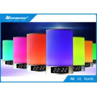 China Portable Touch LED Bluetooth Speaker 3 Watt With Time / Alarm Clock Function wholesale