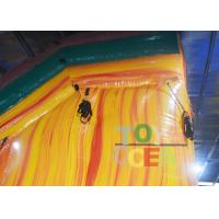 Quality Yellow Jungle Inflatable Water Slide With Pool For Kids ,  Bounce House Water Slide for sale