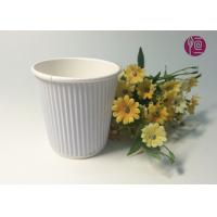 China 7oz  230ml Corrugated  Triple Wall Takeaway Coffee Cup With Lid wholesale