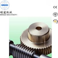 China Black Finished Carton Steel Metal Worm Crown Wheel Gear Turbo For Equipment ISO9000 wholesale