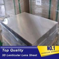 China Plastic Lenticular PS material lenticular board 40LPI, 3.95mm, 120x240cm lenticular sheet for injekt print with best 3D wholesale