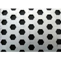 China Hot Rolled Hexagonal Perforated Metal Aesthetically Appealing For Machine Guards wholesale