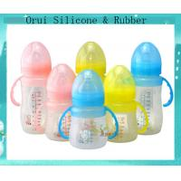 China Shenzhen factory  unbreakable water bottle  silicone baby feeding  bottle wholesale