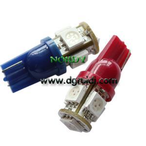 China Led Signal bulb T10 5pcs 5050SMD interior signal lighting wholesale