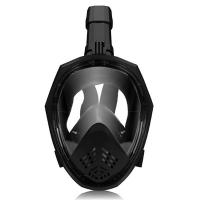China Angle Shape Diving Full Face Mask Breathable Snorkel With Adjustable Head Straps wholesale